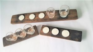 Oak Barrel Shots Flight and Light Gift Set